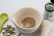 Ground cardamom seeds