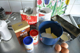 Ingredients for Swedish Tiger Cake