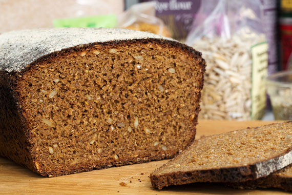 Seeded rye bread
