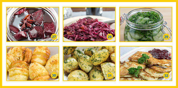 A collage of classic side dishes