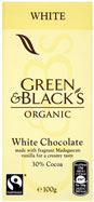 Green and Black's white chocolate with vanilla