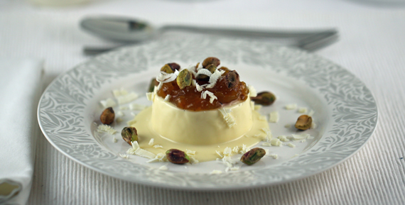 Panna cotta with cloudberry jam