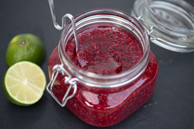 Raspberry jam with lime