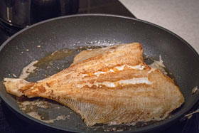 Take care not to move plaice when frying it or the coating will disintegrate