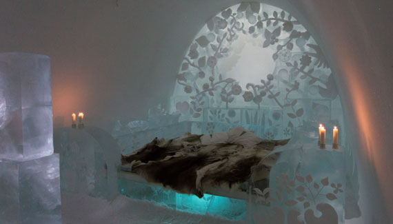 One of the Art Suites at the ICEHOTEL