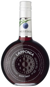 Bilberry liqueur by Lapponia