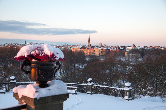 Stockholm as seen from Skansen in December