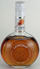 A bottle of cloudberry liqueur
