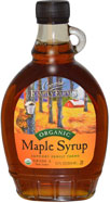 A bottle of Canadian maple syrup