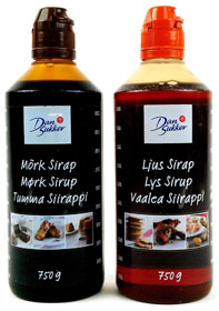 Two bottles of Swedish syrup